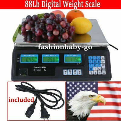 Digital Weight Scale Price Computing Food Meat Scale Produce Deli Indutrial