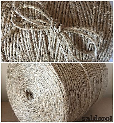 2/5/10 Mt ❁ Soft Natural Jute Twine String Cord ❁ Hessian Burlap Rustic ❁ Cheap