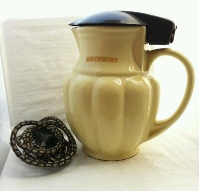 Vintage Art Deco Hotpoint Electric Kettle with Cord & Element
