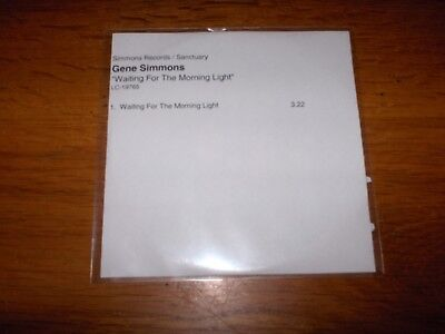 Kiss - Gene Simmons -  Cd Uk Promo Single -'waiting For The Morning Light' -New