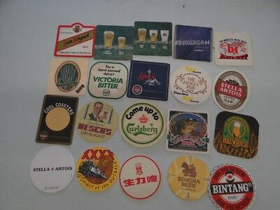 20 x MIXED COLLECTABLE BEER COASTERS/MATS CR61