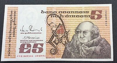 1991 Central Bank of Ireland £5 note