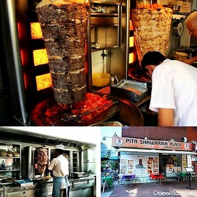 Kebab Shawarma Grill Gyros Automatic Vertical Broiler Commercial 3 Gas Burners