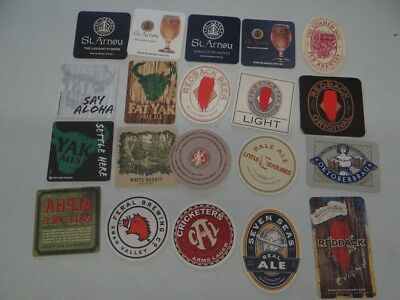20 x MIXED COLLECTABLE BEER COASTERS/MATS CR77