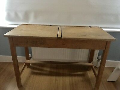 Vintage Retro Old Child's Double School Desk