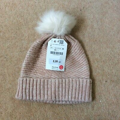 Zara Bobble Hat For Little Girl Size Small Brand New With Tag