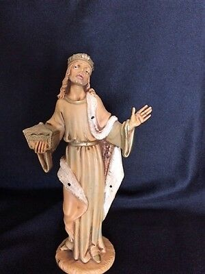 "Scarce Fontanni Depose 7.5"" Scale Nativity Figure #1 Standing w/ Chest Wiseman"