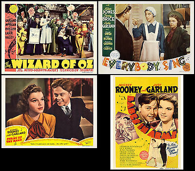 JUDY GARLAND Shown in Super Lot Of 4 Different Individual 11x14 LC 1S Prints
