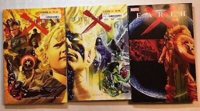 Lot of 3 Marvel Comics softcover graphic novels Earth X + Universe X 1-2