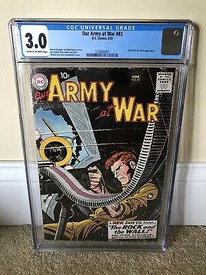 Our Army at War #83 CGC 3.0 Universal 1st Sgt. Rock!