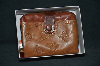 Peanuts - Snoopy Brown Leather Woman's Wallet Purse