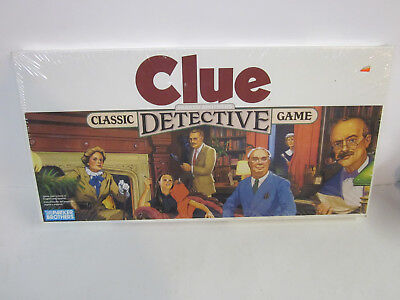 Vintage 1986 Parker Brothers CLUE Classic Detective Board Game sealed new