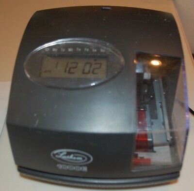 Lathem 1000E Electronic Time Clock and Document Stamp NO KEY