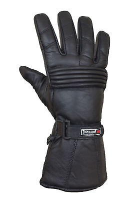 Thermal Waterproof Winter Soft Leather 3M Thermoline Motorbike Motorcycle Gloves