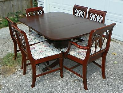 Antique Duncan Phyfe Table And Chairs, 1920-1940S