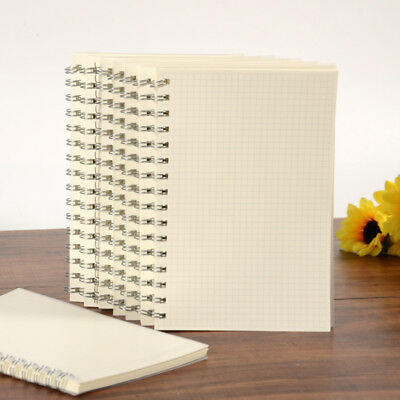 A5 Notebook Journals Diaries Plastic Kraft Cover Grid Square Dots Blank Pages