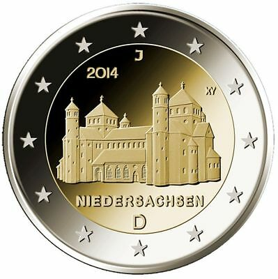 2014 Germany 5x2 Euro UNC Coins Niedersachsen/Lower Saxony Michael- All 5 Mints