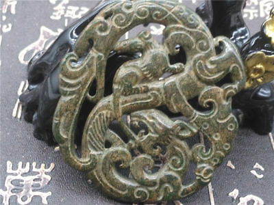 Old China Hand-carved jade pendants worn aristocratic art collection  Q22