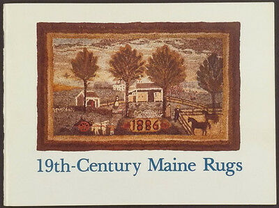 Antique American Maine 19th Century Hooked Rugs - 1980 Exhibition Catalog