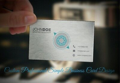 Costum Professional Simple Business Card Design | custom business card design