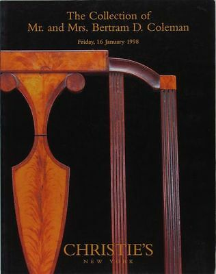 American Antique Furniture Coleman Collection @ Christie's 1998 Auction Catalog