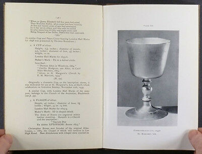 Antique English Church Silver - Kent - Hundred of Blackheath Parish 1939 Book