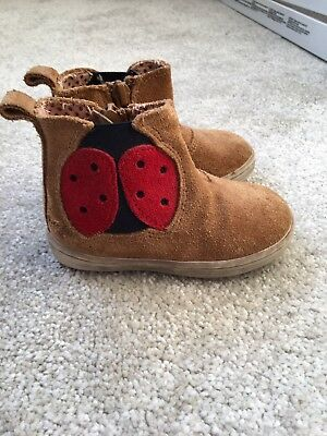 Baby Girl Next Brown Suede Boots Size 3