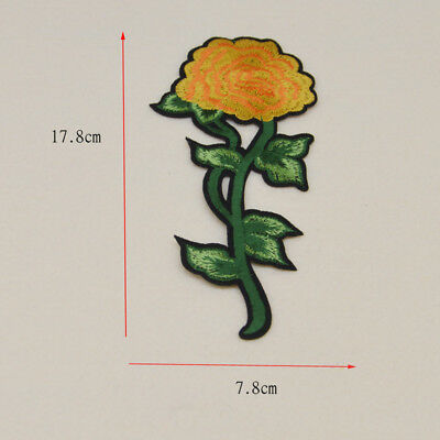 Embroidered Artificial flower Ironon Patch cloth Sewon Badge Bag Applique Fabric