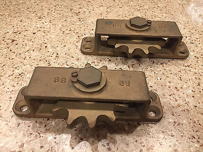 Large Vintage Bronze Boat Chain Pulleys (Pair)