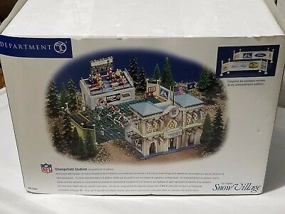 "Dept 56 The Original Snow Village ""champsfield Stadium"" - Mib"