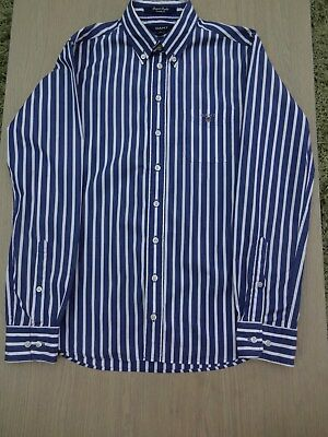 Gant boys stripe smart long sleeved shirt age 13-14 years
