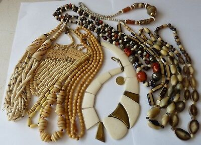 Antique Ethnic Necklaces Important Lot Bijoux Colliers Anciens Vintage Ethnique