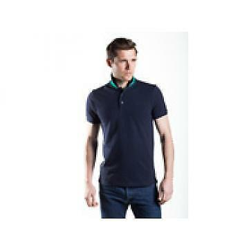 Townend Brucester Polo Shirt - Navy/Emerald Green - Large - Horse Shirts