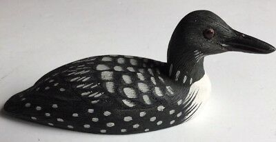 American Wildlife Loon Small Decoy fFigurine 1988 Signed And Dated