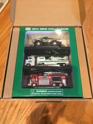 2017 Hess Mini Miniature Collection Monster Truck Helicopter Emergency Set New