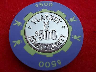 $500 Playboy Casino Chip Atlantic City AC coin center - Mint- Not dig-Collection