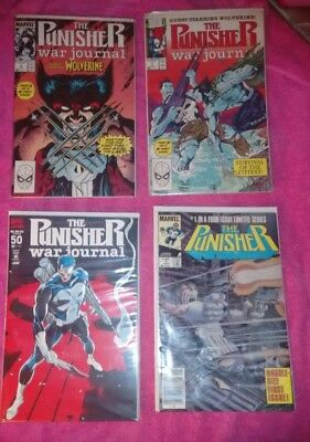 Punisher Comic Lot Mini Series 1 Punisher War Journal 6 7 50 Wolverine Wow Look