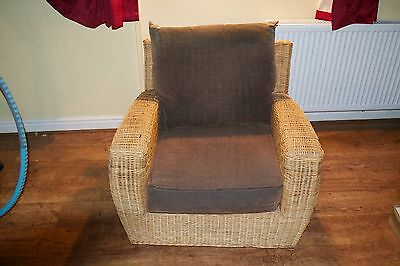 Vintage Cane Arm Chair Conversatory Stunning 1960's Quality