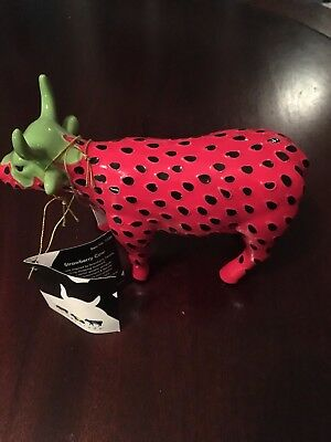 Cow Parade Strawberry Cow - NEW with tags and original packaging