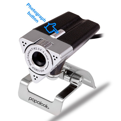 Webcam 1080P PAPALOOK PA187 Full HD Web Cam with Buit-in Microphone PC Camera