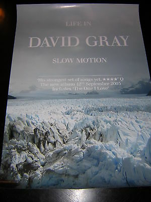 Original David Gray Promotional Poster - Life In Slow Motion