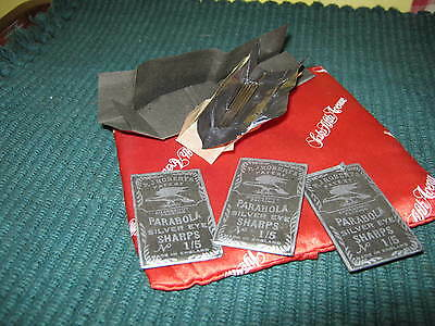 (4) pkgs PARABOLA SILVER EYE SHARPS, Emergency Packing, No 1/5, England ROBERTS