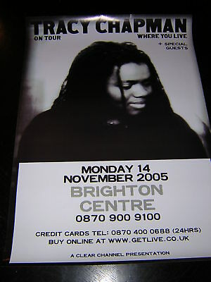 Original Tracey Chapman Promotional Poster - On Tour
