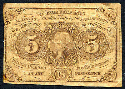 Fractional Currency 5 cent 1st issue