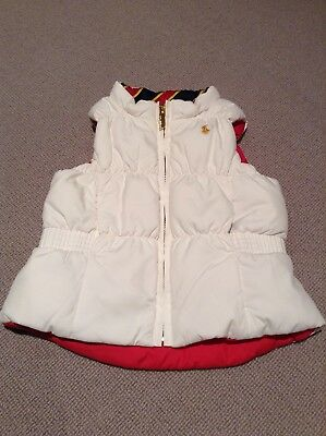 Gorgeous Baby Girl White / Pink Reversable Ralph Lauren Gillet - Size 18 Months