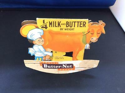 Vintage Schulze Butter-Nut Bread double-sided store / restaurant? table topper