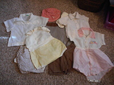 Vintage Baby Boy Clothes Playsuits Shirts Hat  Shorts Lot #838