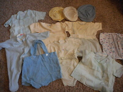 Vintage Baby Boy Clothes Playsuits Shirts Hats Overall Shorts Lot #835