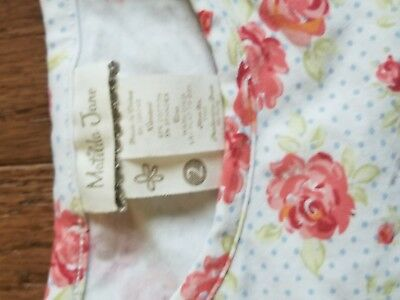 matilda jane 2 floral and lace ss shirt EUC