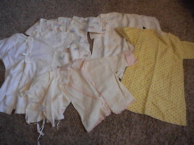 Vintage Baby Clothes Flannel Dressing Gowns Blankets T-Shirt Lot #834
